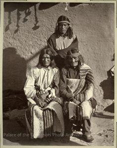 Palowatiwa, Nanahe and Pedro Pino of Zuni Pueblo, New MexicoPhotographer: John K. HillersDate: 1879-1880?Negative Number 073898
