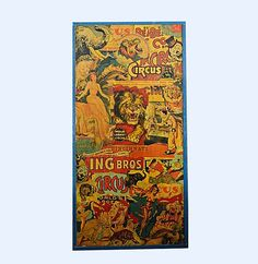 Vintage Ringling Brothers Circus Poster Collage : EBTH