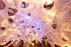 myThread Pavilion | Jenny Sabin Studio. Photo courtesy of Nike, Inc. | Bustler