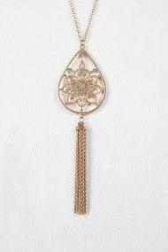 Free SH & Easy Returns! Shop Flower Scroll Tassel Pendant Necklace.