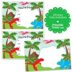 free printable invite! | dinosaur party | Pinterest | Free printable