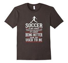 Men's Soccer - Always Improving Girl's Women's T-Shirt Medium Asphalt - Brought to you by Avarsha.com