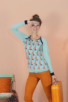 "SPORTY LANGARM ""SAILOR LOVE"" von Bonnie & Buttermilk auf DaWanda.com #shirt #tshirt #langarmshirt #bobbieandbuttermilk #pulli #pullover #fashion #mode #retro #siebziger #local #handmade #berlin #sailor"
