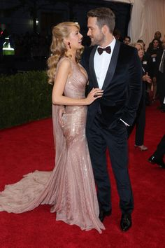 Blake Lively & Ryan ReynoldsNot often seen on the red carpet together, these idyllic lovebirds may actually be human wedding cake toppers.