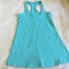 ‼️SALE‼️Lululemon Tank Lululemon Tank in good condition and a pretty blue. Size tag is off but is a 4 lululemon athletica Tops Tank Tops
