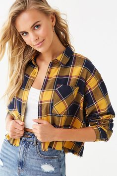 Product Name:Frayed Flannel Plaid Shirt, Category:top_blouses, Flannel Outfits Summer, Plaid Shirt Outfits, Summer Outfits For Teens, Flannel Dress, Plaid Flannel, Flannel Shirts, Flannels, Tee Shirts, Retro Outfits