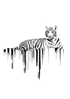 white tiger melts poster by christopher scott I love the use of contrast and simplistic design to achieve a bold print