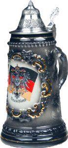 German Stein Deutscher Bierkrug mit Deckel Ich vermisse die Biergaerten, aber wenigtens kann ich auch in der USA einen Bierkrug bekommen lol