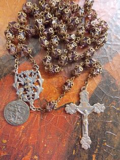 Vintage Rosary with Faceted Amethyst Beads by divinefindboutique, $139.00