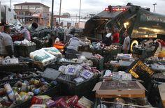food damaged by Hurricane Sandy, Fairway supermarket in Red Hook, Brooklyn