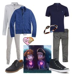 """""""In a Heartbeat Inspired Outfits"""" by sschan ❤ liked on Polyvore featuring Hollister Co., Polo Ralph Lauren, Hackett, Eleventy, Brooks Brothers, Converse, G.H. Bass & Co., men's fashion and menswear"""