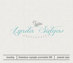 Premade Photography Bird logo - Eps and Png file watermark - Bird  Premade custom logo - Bird logo custom signature for photographers