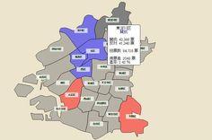大阪都構想住民投票結果、各区毎の得票差