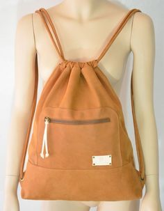 Your place to buy and sell all things handmade, Brown Leather Backpack, Leather Backpacks, Sack Bag, Tote Bags, Duffle Bags, Messenger Bags, Boho, Sports Women, Tuto Sac