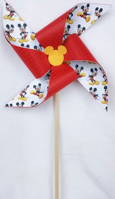 Pinwheels - Disney mickey mouse, red, black, yellow, birthday party, 1st first, baby shower, decorations, favors, nursery