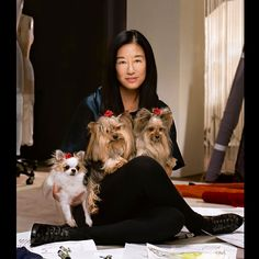 Vera Wang with Cooper, Sam, and Lucy