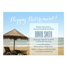 Shop Summer Beach Chairs Retirement Party Invitations created by myinvitation. Personalize it with photos & text or purchase as is! Farewell Party Invitations, Retirement Party Invitations, Farewell Parties, Custom Invitations, Happy Retirement, Retirement Parties, Retirement Ideas, Invitation Cards, Teachers