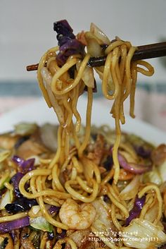 Cooked Shrimp Recipes, Cooking Recipes, Korean Food, Chinese Food, How To Cook Shrimp, Noodles, Sushi, Spaghetti, Food And Drink