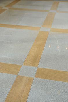 Parkett eller klinker? Varför välja? Blandningen ger ett snyggt och annorlunda golv!!