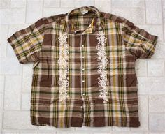 Turn this men's shirt into a shirred dress....desert beauty | MADE