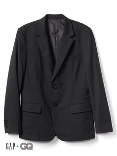 Gap Mens Gap + Gq Ami 2-Button Suit Jacket Soft Black Size XXL Suit b1184b2aea3b