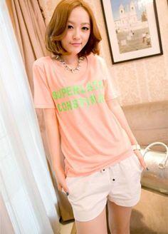 White Cute Korean Spring Fashionable Casual Short Pants 1