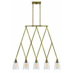 Hinkley Lighting 4935 Gatsby 5 Light 1 Tier Chandelier
