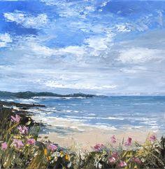 Nehmen wir uns Zeit: cm – Anne-Marie Tollet – Join the world of pin Beach Watercolor, Watercolor Landscape, Landscape Art, Landscape Paintings, Seascape Paintings, Watercolor Paintings, Ocean Art, Beach Art, Pictures To Paint