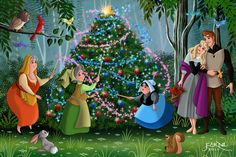 This is my Christmas gift to all my friends, Merry Christmas to all Sleeping Beauty © Disney