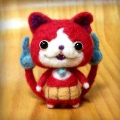 http://eureka.tokyo/archives/7955  羊毛フェルトで作られたジバニャンがかわいい!