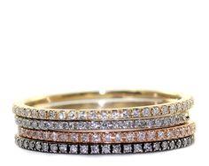 Micropave diamante anello anello di accatastamento di Tulajewelry