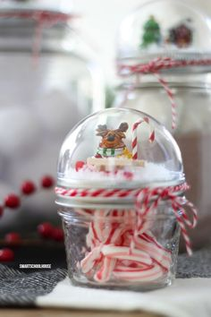 How to make a Mason Jar Lid Snow Globe for Christmas using a clear plastic ornament. Easy for everybody to do! DIY Christmas gift in a jar idea. Christmas Snow Globes, Christmas Mason Jars, Noel Christmas, Homemade Christmas, Diy Christmas Gifts, Christmas Projects, Holiday Crafts, Christmas Ornaments, Christmas Decor