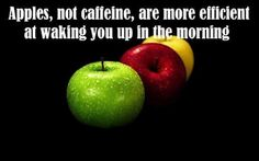 Food for thought! Enjoy an apple today and LIVE AHA! Apple Quotes, Good Health Quotes, Health And Wellness, Health Fitness, Health Tips, Oral Health, Health Benefits, Funny Fun Facts, Random Facts