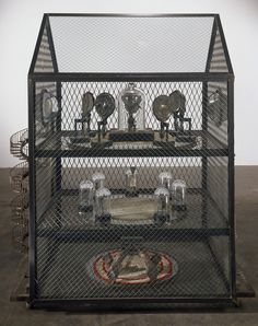 Louise Bourgeois, Maison, 2000  Steel, glass, mirrors, fabric, beads and wood  170.2 x 144.8 x 89 cm    Photo: Christopher Burke
