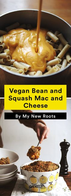 no dairy mac: Vegan Bean and Squash Mac and Cheese