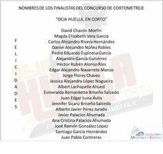 """Finalistas concurso""""Deja huella, en corto"""" Word Search, Words, Pageants, Foot Prints, Names, Horse"""