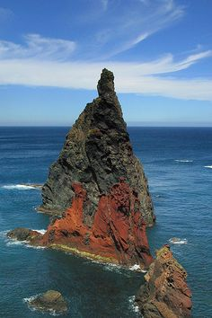 Islet on the northern shore of Ponta de São Lourenço, Madeira Island, Portugal