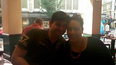 L.A Richards with wife Karima, enjoying a coffee and a cake in Manchester