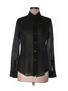 Theory Women Long Sleeve Blouse Size M