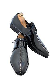 Handmade Black Stingray Men Shoes