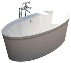 Atlantis Whirlpools 3468SS Suisse Bathtub   Modern   Bathtubs   PoshHaus  Freestanding Bathtub, Modern Bathtub