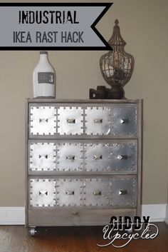 IKEA Rast Hack:  Industrial Side Table by Giddy Upcycled