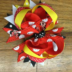 Minnie Mouse hair bow hair clip boutique inspired #bowtifulblessings