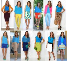 From My Closet: 12 Outfit Ideas with an Electric Blue Top