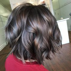 See this Instagram photo by @hairbyhollycrawford • 17 likes//silver highlights