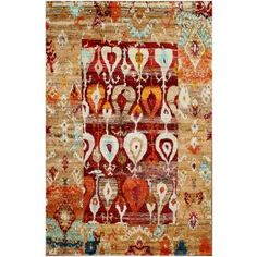 Eros  Red Sari Silk Hand Knotted Rug 30047 6x9 - color is Red & Rust