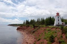 Red shoreline and lighthouse of P.E.I.