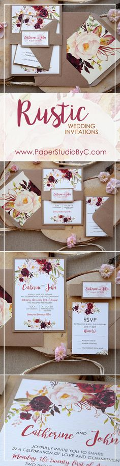 Rustic Chic Floral Wedding Invitations. We love this design!!! <3 https://www.paperstudiobyc.com/product/rustic-chic-floral-wedding-invitations/ #paperstudiobyc #watercolorweddinginvitations #floralinvitations #watercolorinvitations #rusticinvitations #custominvitations #countryweddinginvitations #rusticchicwedding #personalizedinvitations #weddinginvitations #shoponline