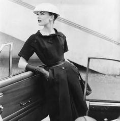 Fashion photography by Eugéne Vernier, 1950s.