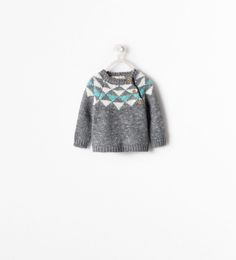Image 1 of DIAMOND PATTERN SWEATER from Zara
